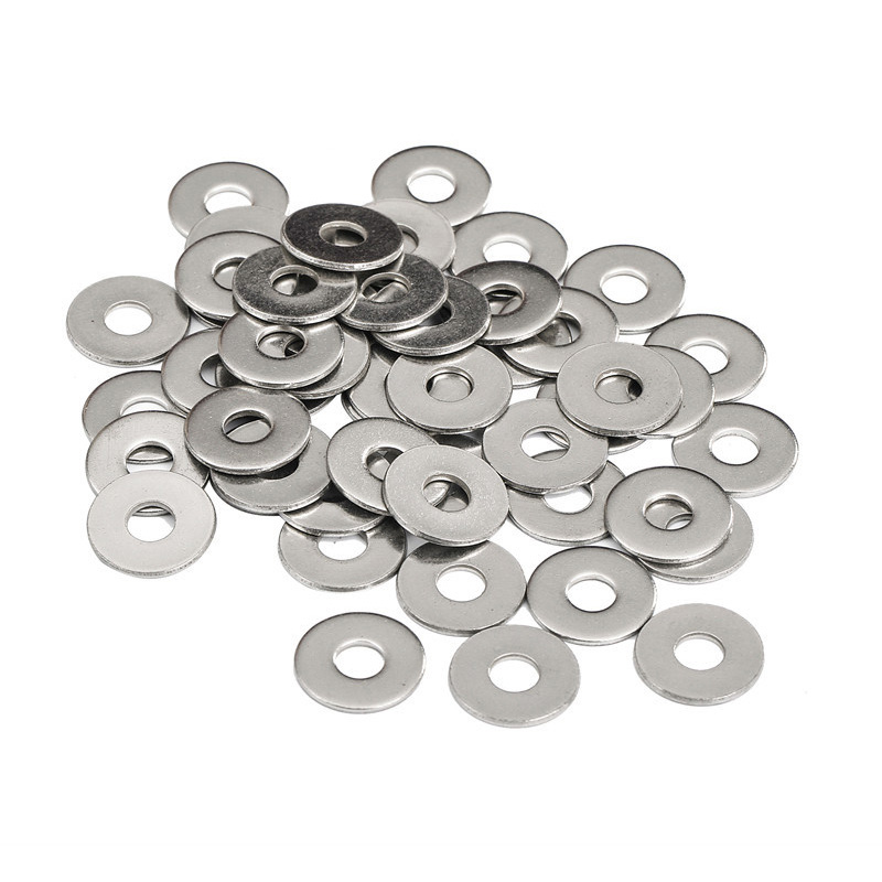 100 pieces M6 x 18 x 1.5 mm stainless steel washers Large Size Flat Washer gasket 3x thread diameter Outer diameter 6.4 / M6 50 pieces metric m4 zinc plated steel countersunk washers 4 x 2 x13 8mm