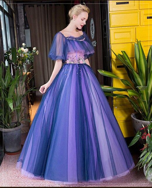 100%real flower waist beading bubble Medieval Renaissance gown Sissi princess dress Victorian /Marie/ Belle Ball cosplay dress
