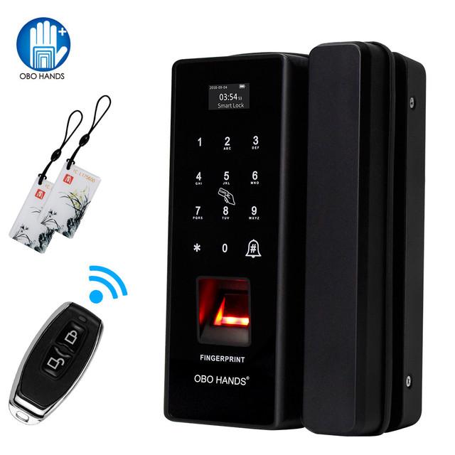 OBO HANDS Biometric Fingerprint door lock smart digital electronic door lock Fingerprint Verification With Password & RFID Unlok