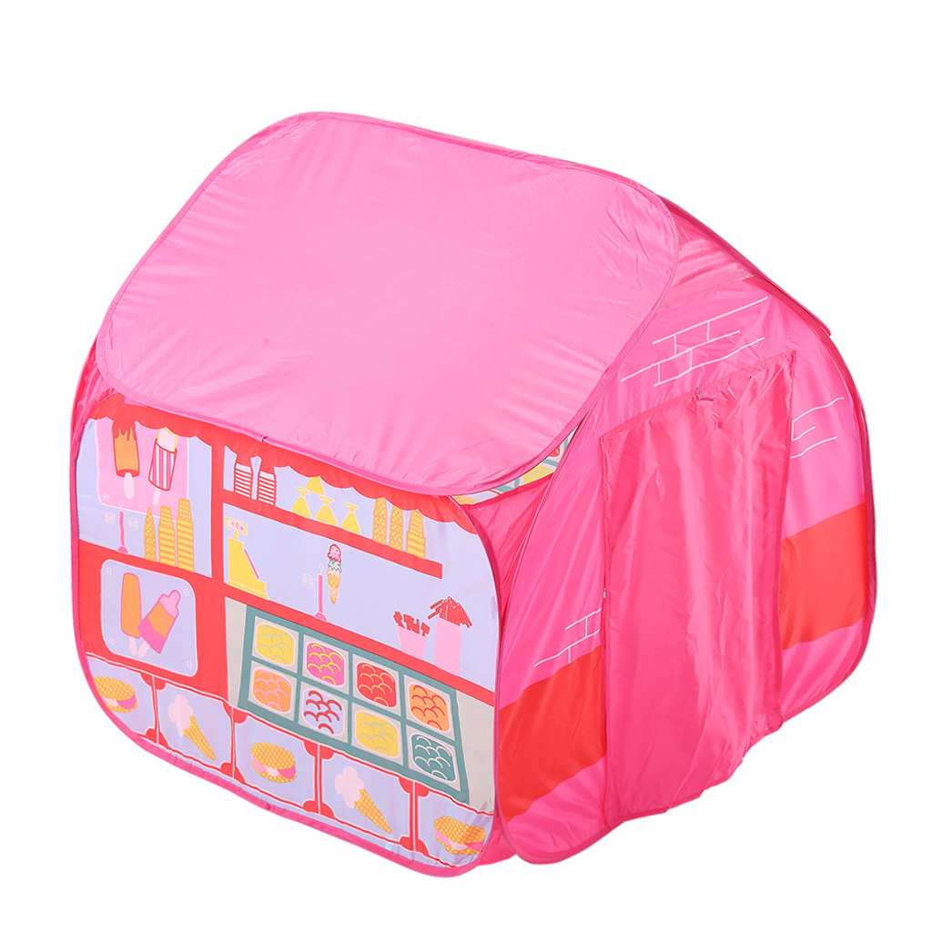 Portable Pink Ice Cream Themed Play House Pop Up Play Tent For Kids Indoor Outdoor Play брюки спортивные ice play ice play ic006ewurd74