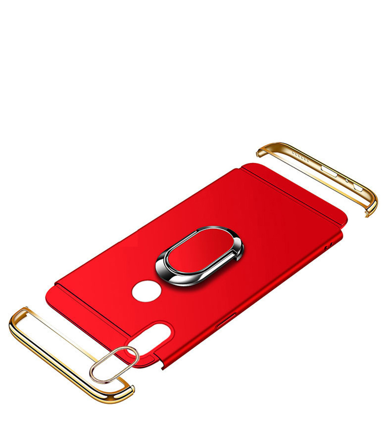 EPENA Ultra Thin For iphone 11 pro Xs Max XR Plating Hard Pc Cover 3 In 1 Case For iphone x 7 8 6S 6 Plus Case phone Ring Lanyard