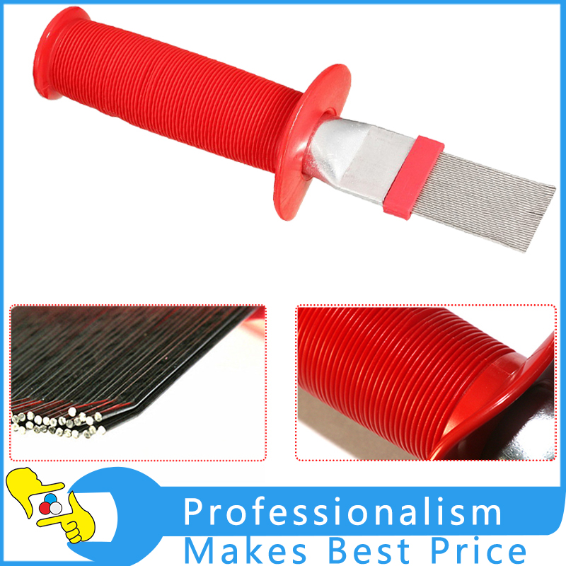 CH-352L Blade Cooling Straightening Cleaning Tool Fin Comb Brush For Air Conditioner Spring Steel Brush Hand Tools refrigerator tools condenser comb fins brush ct 352