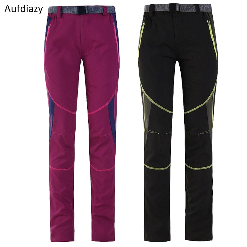 Aufdiazy Spring Women Stretch Quick Dry Pants Female Outdoor Sports Breathable Anti-UV Hiking Trekking Camping Trousers JW021
