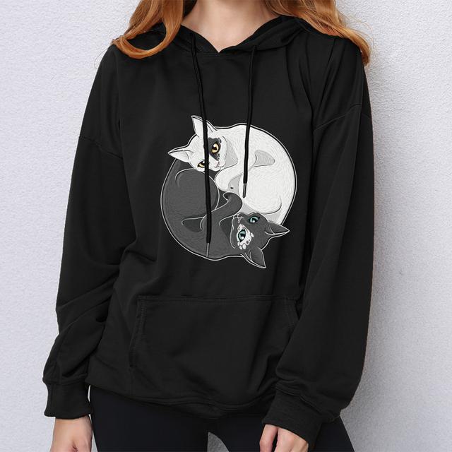 Yin Yang Cats Hoodie
