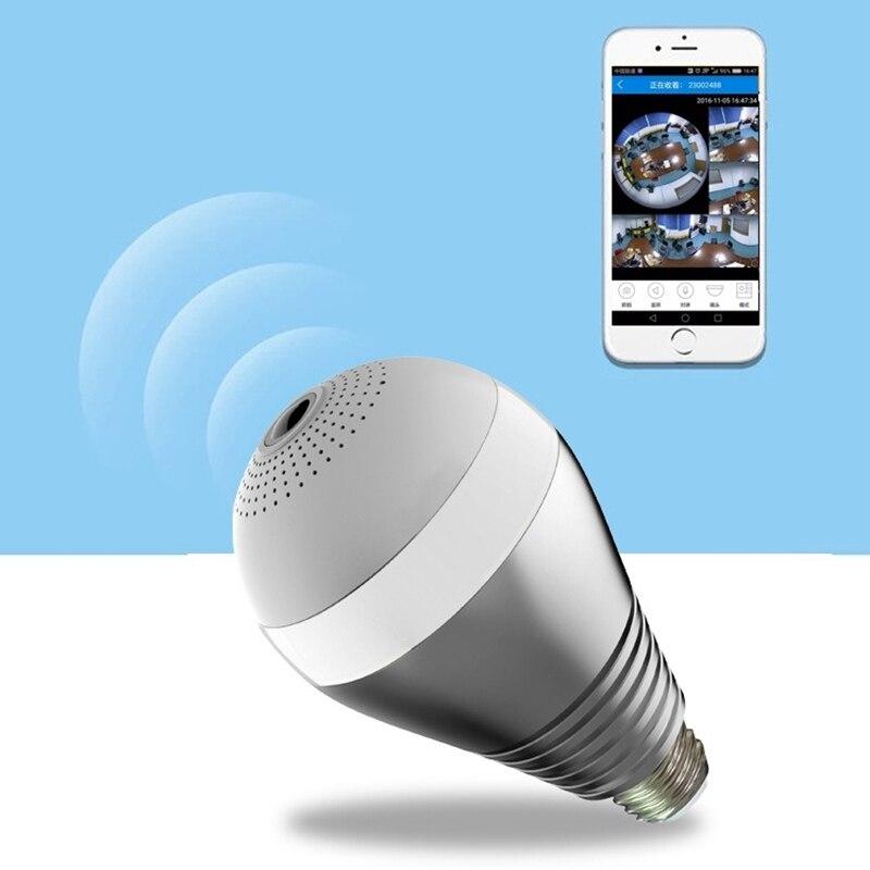 220 V E27 LED ampoule WIFI 3 W FishEye lumière de Surveillance 360 degrés caméra de Surveillance panoramique 2.0MP 3.0MP 1080 P Vision nocturne