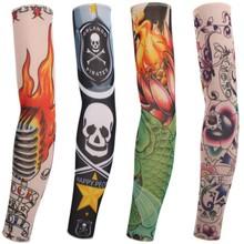 6Pcs Stretchy Fake Tattoo Sleeves Arm Stockings Sexy Design Long Sleeve Stocking