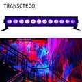 12 LED UV Disco Licht Bühne Lampe DJ Led Par Blacklights Bar Schwarz Lichter Für Halloween Weihnachten Projektor Laser Partei lichter