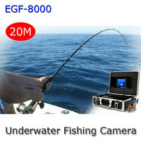 GSY8000 7 Color TFT Underwater Fishing Camera Fish Finder Deep Water Video Camera Luxury Set 20