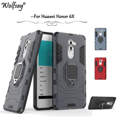 For Huawei Honor 6X Case Shockproof Armor Silicone Cover Hard PC Phone Case For Huawei Honor 6X Back Cover For Huawei Honor 6X
