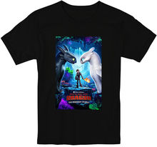 How To Trainer Your Dragon The Hidden World Toothless Light Fury T Shirt S-3XL 100% Cotton Short Sleeve O-Neck Tops Tee T Shirt how i met your mother casual o neck men s basic short sleeve t shirt 100