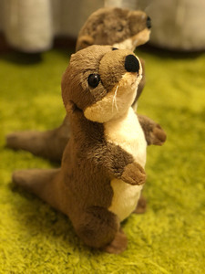 Image 4 - 18cm Standing River Otter Plush Toys Mini Size Real Life Otter Stuffed Animals Toys For Kids Birthday Gifts