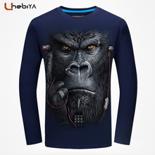 Unebiya Hip Hop Funny T shirts Bape Snake 3D T Shirt Men's long sleeve t-shirt men Car-Styling tshirt big size T-shirts 5XL 6XL