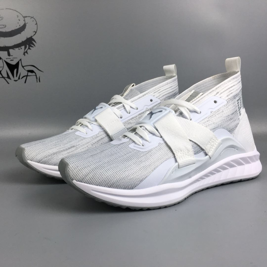 PUMA knits high-top sock shoes Men's and Women's Ignite Evoknit Lo 2 WhiteQuarry Badminton shoes size36-44