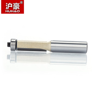 """Image 4 - HUHAO 1pcs 1/2"""" Shank Lengthened Flush Trim Router Bits for wood Trimming Cutters with bearing woodworking tool milling cutter"""