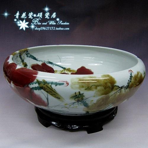 Pot de fleur en céramique eau