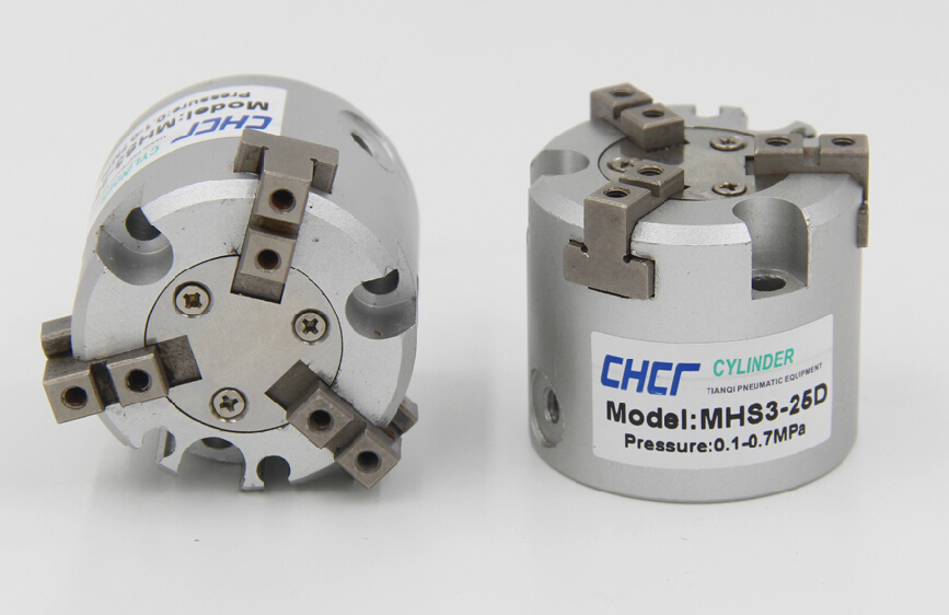 MHS3-32D SMC Type Air Gripper 3-Finger Type Pneumatic Parallel Style Double Acting Accept custom high quality double acting pneumatic robot gripper air cylinder mhc2 25d smc type angular style aluminium clamps