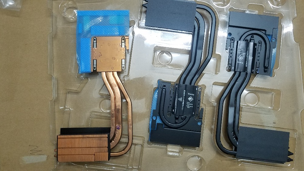 Nouveau ordinateur portable/ordinateur portable GPU vidéo vice carte graphique radiateur de refroidissement pour Clevo P870 P870DM-G 6-31-P870N-302 module thermique