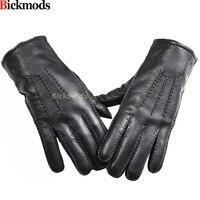2017 guantes冬の手袋革手袋男性すべて手作りディアスキン裏地ストライプスタイル柔らかい繊細な価格譲歩直