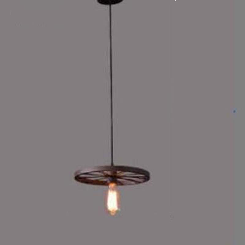 Loft industrial wind Pendant Lights creative personality bar retro Cafe dining room lamp iron wheel pendant lamps GY298 loft iron lanterns pendant lights retro restaurant bar cafe hone lighting lamp industrial wind black cage pendant lamps za gy4