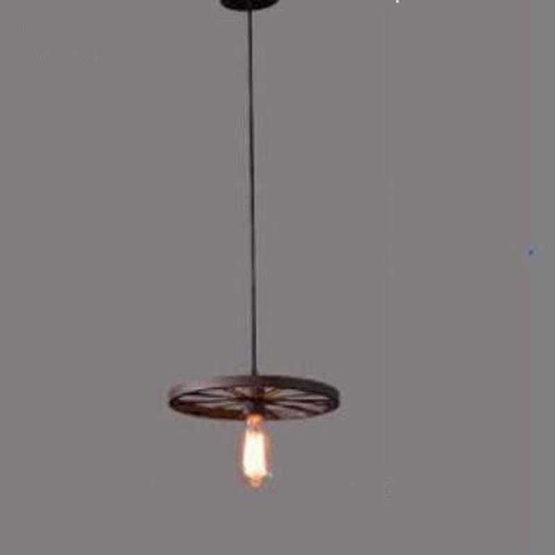 Loft industrial wind Pendant Lights creative personality bar retro Cafe dining room lamp iron wheel pendant lamps GY298 loft iron lanterns pendant lights retro restaurant bar cafe hone lighting lamp industrial wind black cage pendant lamps za