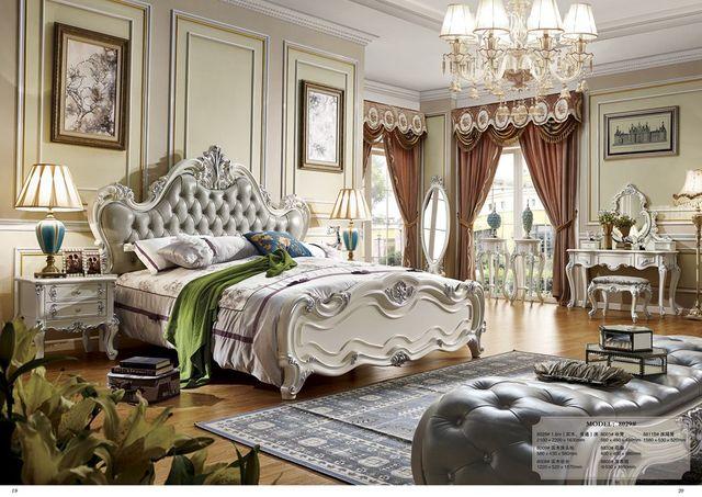 Grijze Slaapkamer Meubels : Bed room grijs lederen grote dubbele bed ontwerp meubels in bed