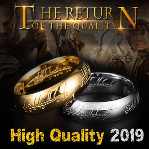 Gold Color Hobbit Gift Midi Ring Stainless Steel One Ring Of Power jewelry Lord of Ring Women and Men High Quality BR-R059