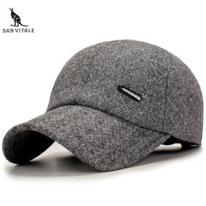 75c9c1fba4cf0 SAN VITALE Baseball Cap Men Winter Dad Hat Polo Casual