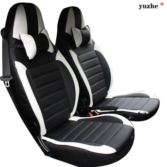 yuzhe housse de si ge de voiture en cuir pour mercedes benz smart fortwo smart forfour. Black Bedroom Furniture Sets. Home Design Ideas