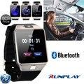 Runplay dz09 blurtooth smart watch con cámara sim/tf teléfono reloj de pulsera para iphone xiaomi samsung teléfono android smartwatch