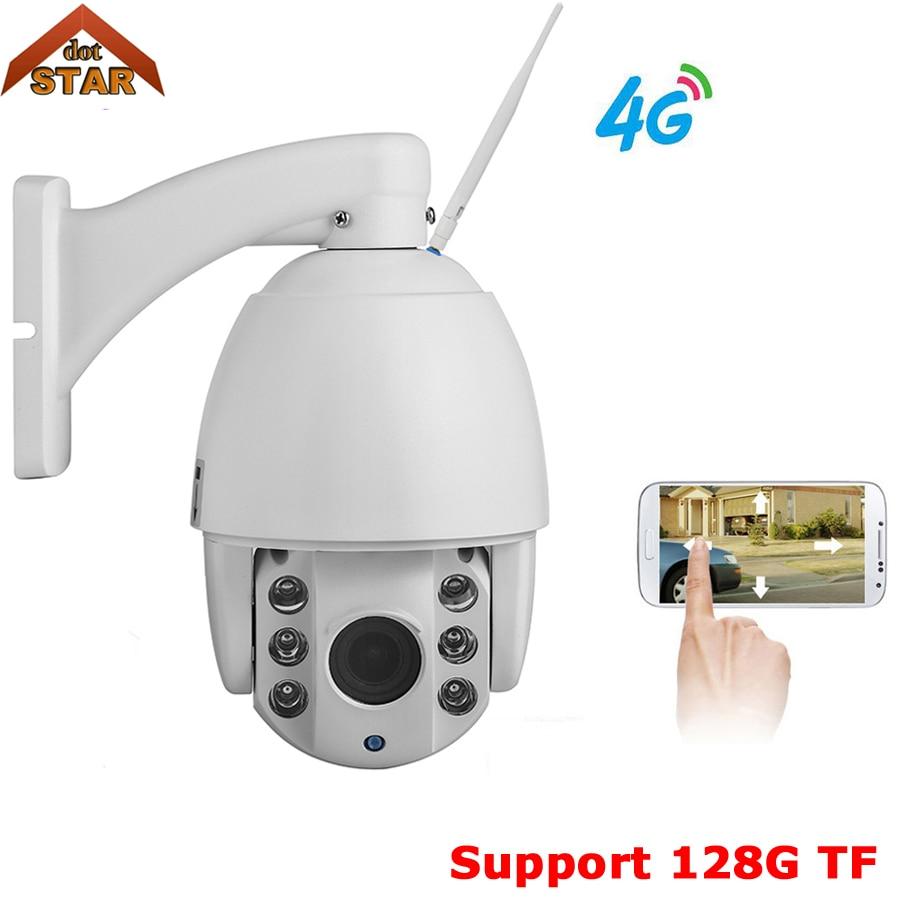 Stardot Wireless 4G camera ip Outdoor PTZ 1080P 4G SIM card ptz speed dome ip camera 128G TF security surveillance camera