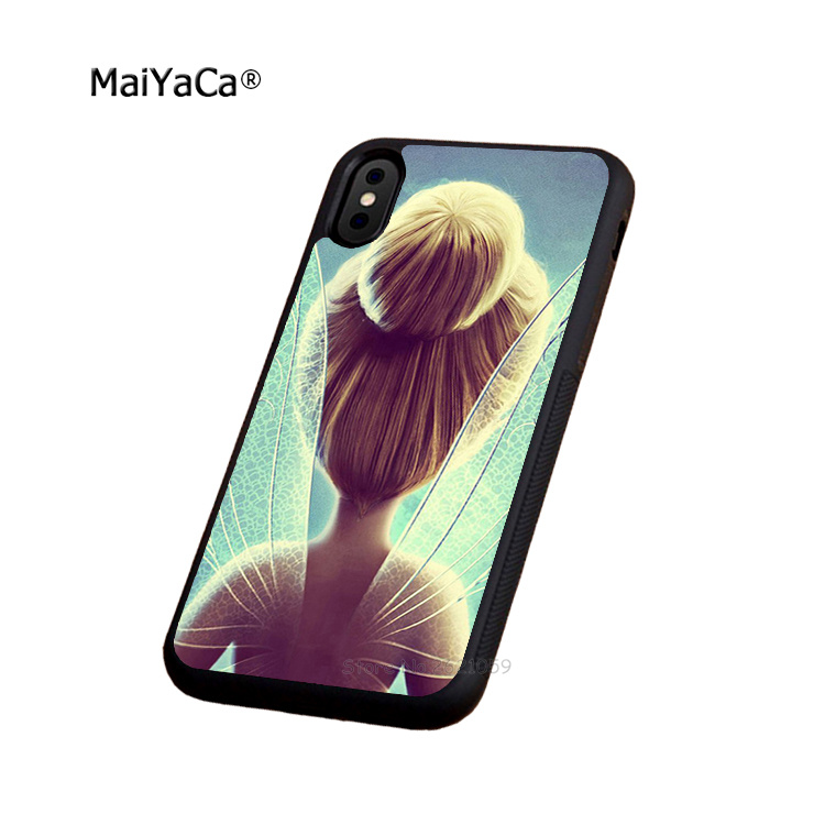 tinkerbell fairies soft silicone edge cellphone cases for apple iPhone x 5s SE 6 6s plus 7 7plus 8 8plus XR XS MAX Phone bags