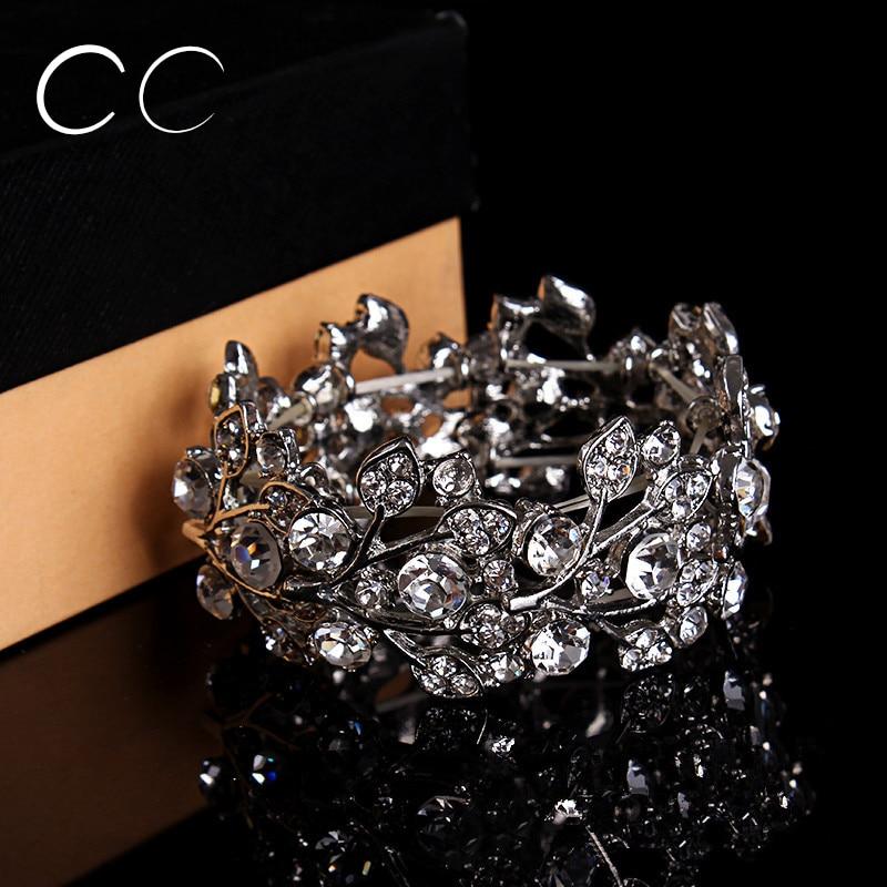 High quality bangles for brides beautiful jewellery crystal bracelet women wedding party fashion jewelry luxury bijoux E006