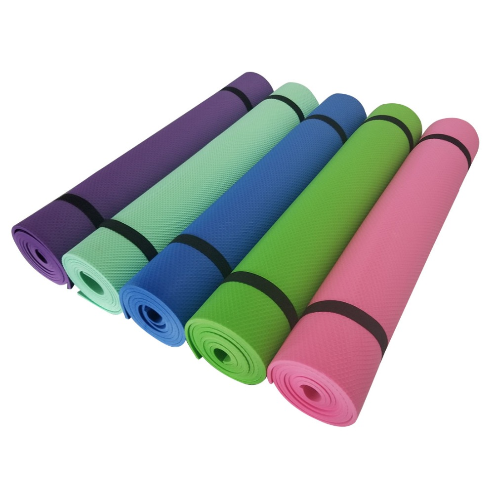 183x61x5mm EVA Exercise Yoga Mat Thick Pad Foldable font b Fitness b font Pilates Slipper Supplies
