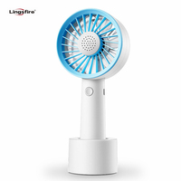 Mini Handheld Fan Portable Aromatherapy Fan Handy USB Rechargeable Battery 3 Speeds Level Desk Fan for Office Room Traveling