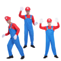 Halloween cosplay costumes male adult Super Mario Mario Louis clothing performance clothing Role Play Set