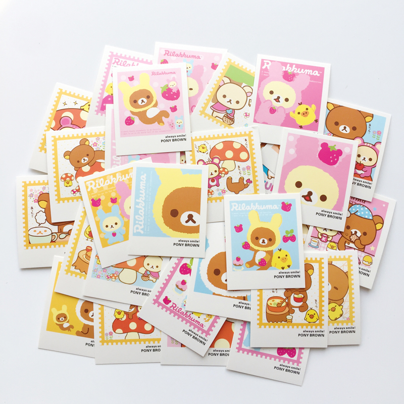 Hearty E36 40pcs /pack Cute Kawaii Rilakkuma Lomo Diy Postcard Post Greeting Card Picture Decor Message Leave Cards Neither Too Hard Nor Too Soft Paper Envelopes