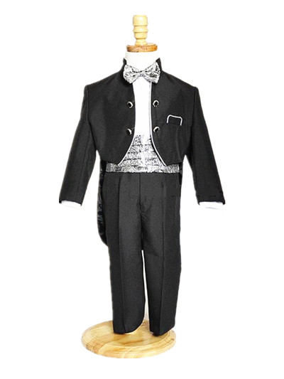 BABY WOW Black White Newborn Baby Boys Formal Attire Clothes Birthday Party Wedding for 1 2