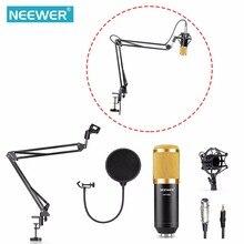 Neewer NW 800 Studio nadawania i nagrywania mikrofon kondensujący NW35 regulowane zawieszenie podnośniki stojak z ramieniem zacisk montażowy zestaw