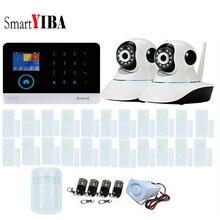 SmartYIBA IOS Android APP Control WIFI Security Alarm System 22pcs Door Window Sensor 2 IP Cameras