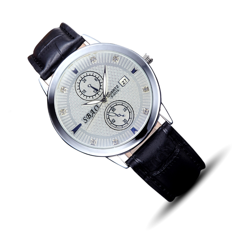 compare prices on mens guess watches online shopping buy low automatic mens waterproof leather wristwatch simple men quartz two false dials business watch top quality datejust
