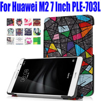 Ultra Slim  Smart Case For Huawei M2 7.0 Inch Fashion PU Leather Cover for Huawei M2 PLE-703L With Stand HM21