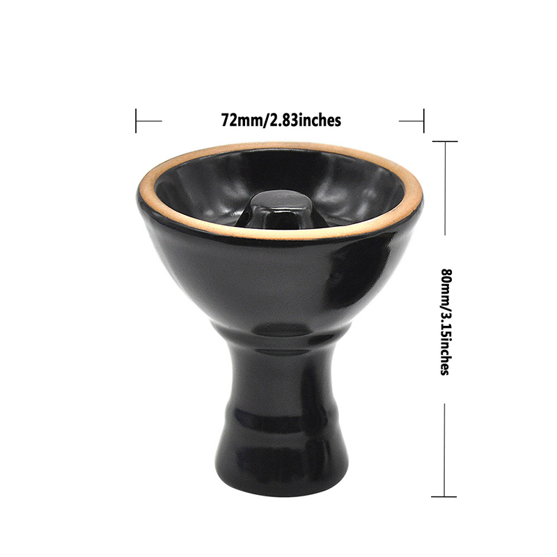 Ceramic Vortex Shisha Hookah Bowl Diameter 7cm Height 8cm 2 Colors with Holes in the Top Tower Advanced Version of the Phunnel (4)
