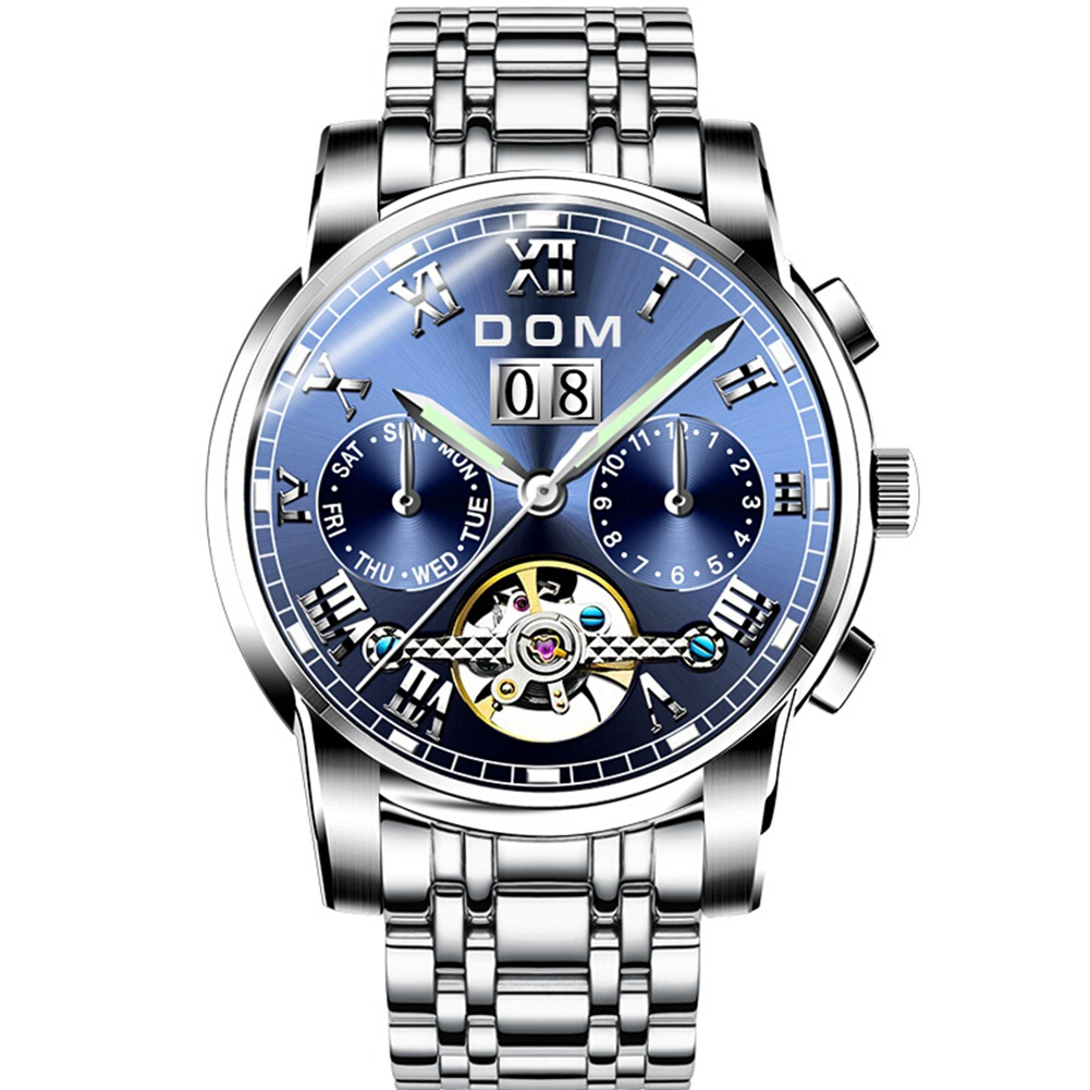 DOM New Men's Sports Watch Male Automatic Mechanical Watch Top Brand Multi-functional Steel Bracelet Watch Young Students Watc цена