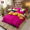 Sookie Reversible 3 Pieces King Size Solid Bedding Sets Geometric Plaid B Side Duvet Cover Sets