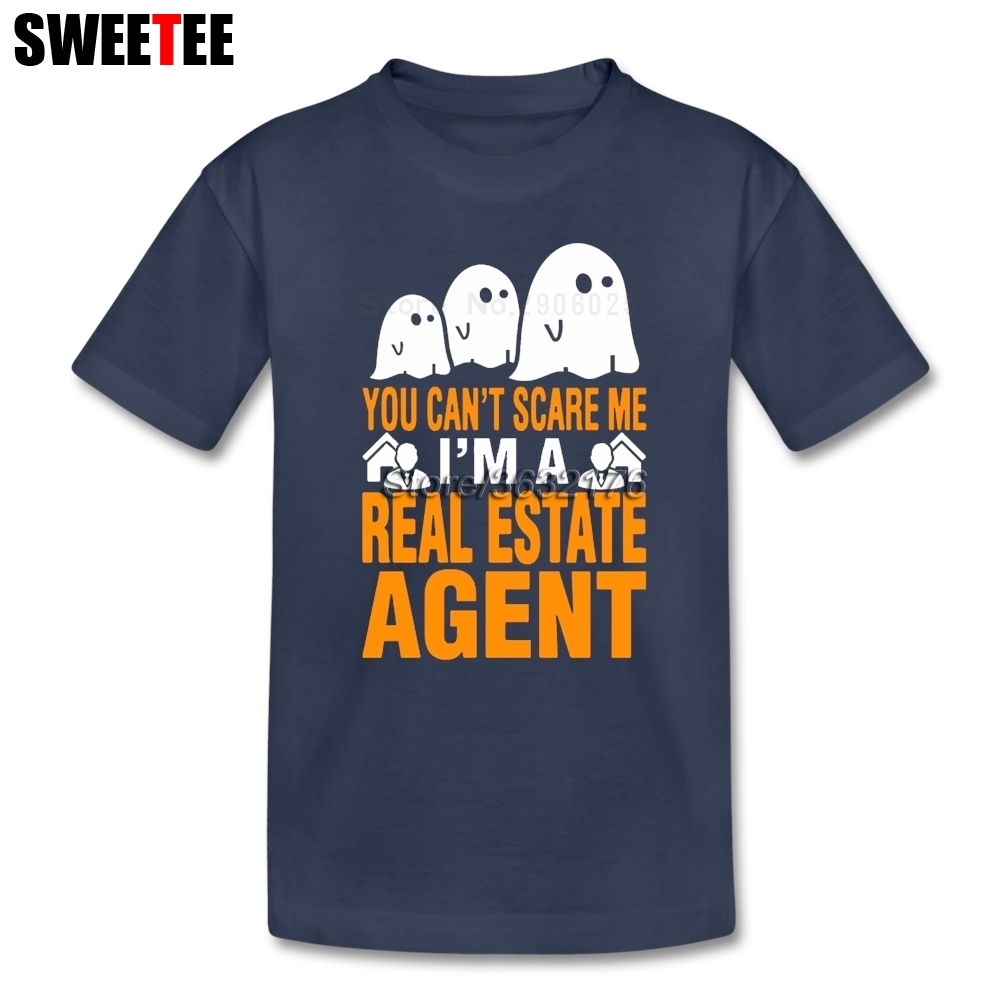 Вы не можете напугать меня я агент по недвижимости Обувь для мальчиков Обувь для девочек Футболка натуральный хлопок футболка детская футб...
