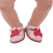 Lovely bowknot princess shoe 3 colors can choose the doll that suits 43 cm baby dolls and 18-inch girl fittings g50-g52