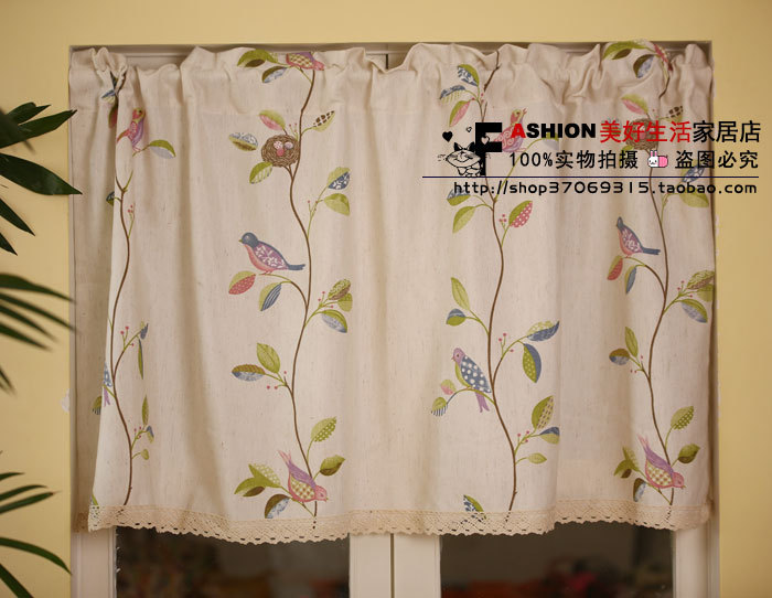 Kitchen Curtains bird kitchen curtains : Online Buy Wholesale bird kitchen curtains from China bird kitchen ...