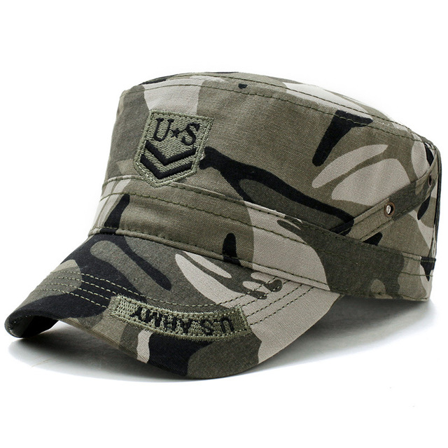 US Army Military Hat Flat Caps Tactical Men Camouflage Gorras Snapback Caps Hunter Fisher Man Sun Visor Caps Real CS Cool Hat