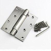 4 inç paslanmaz çelik bahar menteşe otomatik dönüş menteşe kapanış bar denim ahşap kapı menteşesi X3