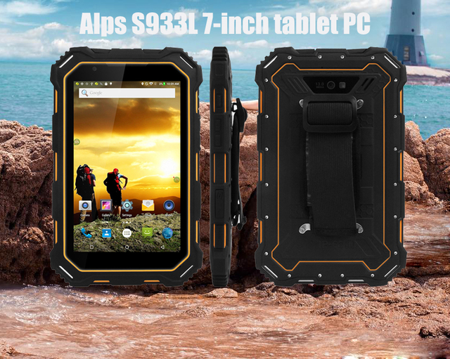 Los Alpes S933L 7 pulgadas tablet PC 1280*800 de 240 dpi 2 GB/16 GB 7000 mAh 4 g/WIFI/BT multilingüe IP68 impermeable Android 5,1 e-book